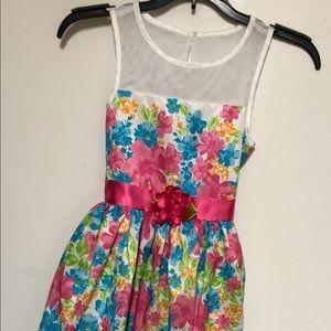 Dollie & Me Floral Print Girl's Dress Sz 10